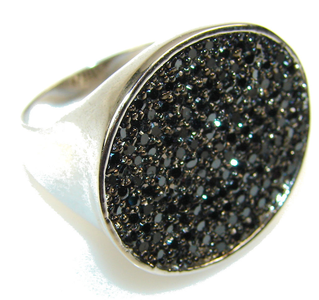 Special Secret Hematite Sterling Silver Ring s. 8