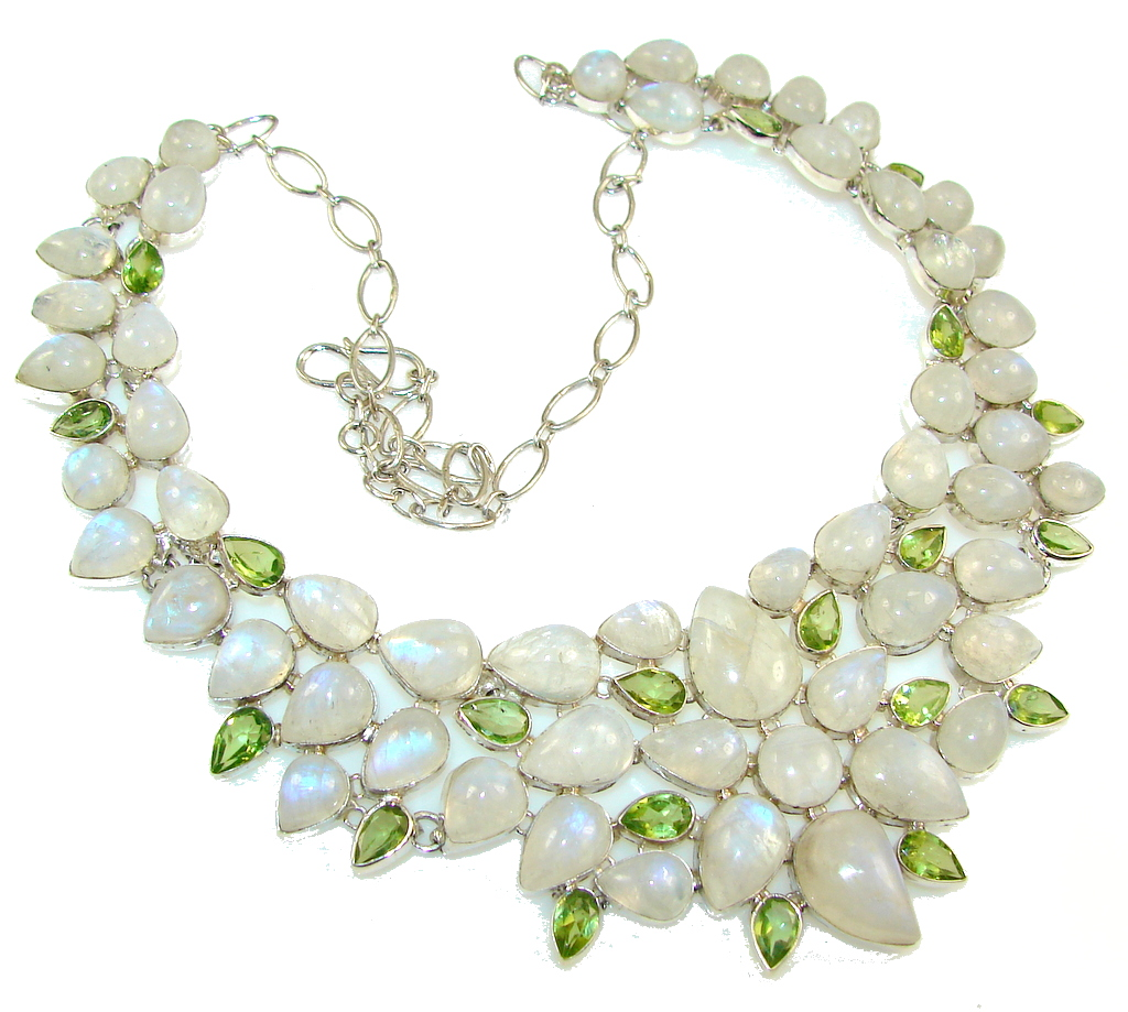 Fabulous Dream!! Moonstone Sterling Silver necklace