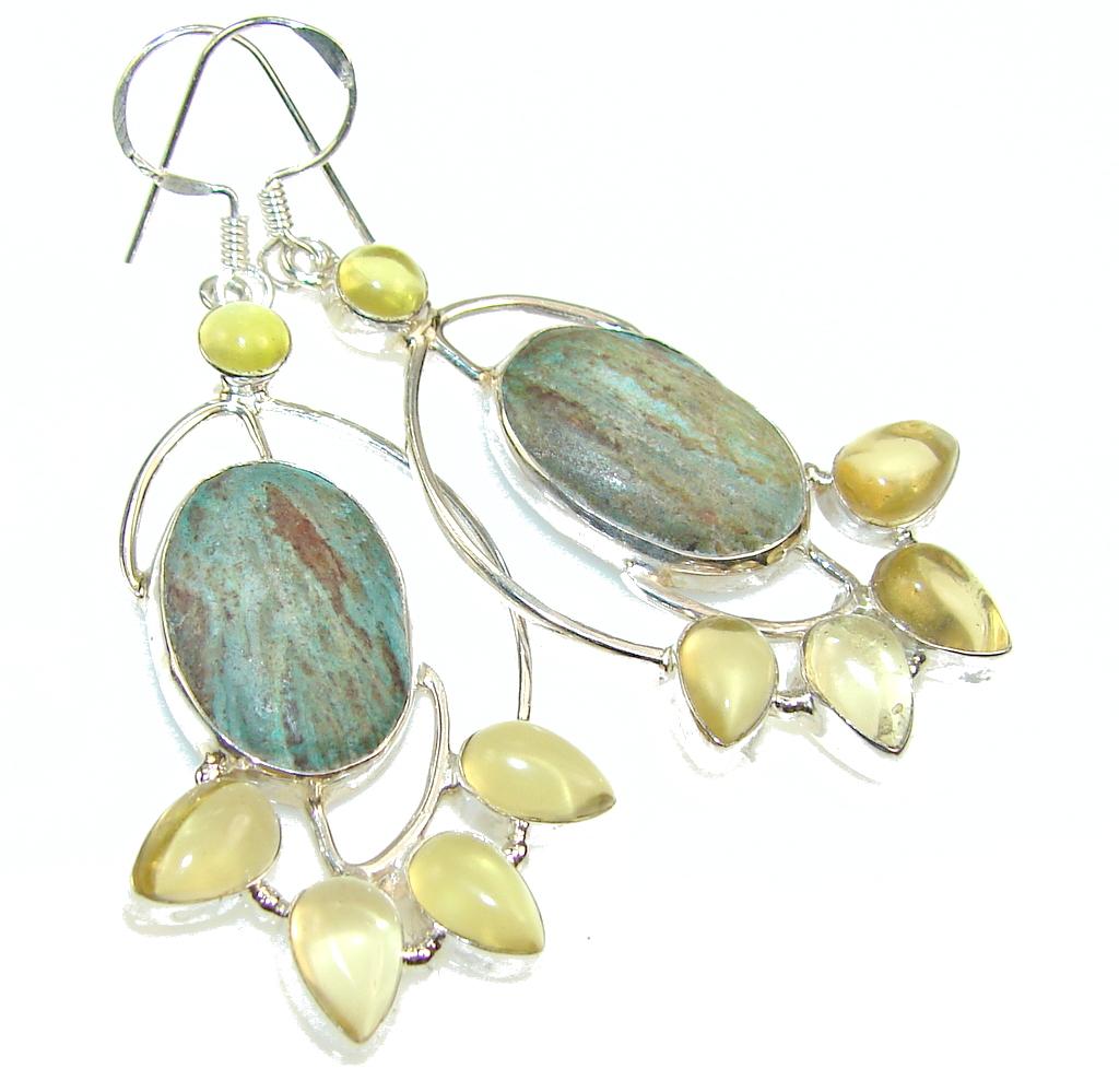 Image of Fantastic Sea Sediment Jasper Sterling Silver earrings