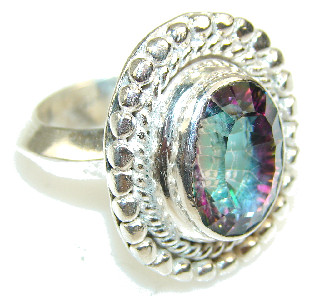 Image of Disco Light!! Magic Topaz Sterling Silver ring s. 10