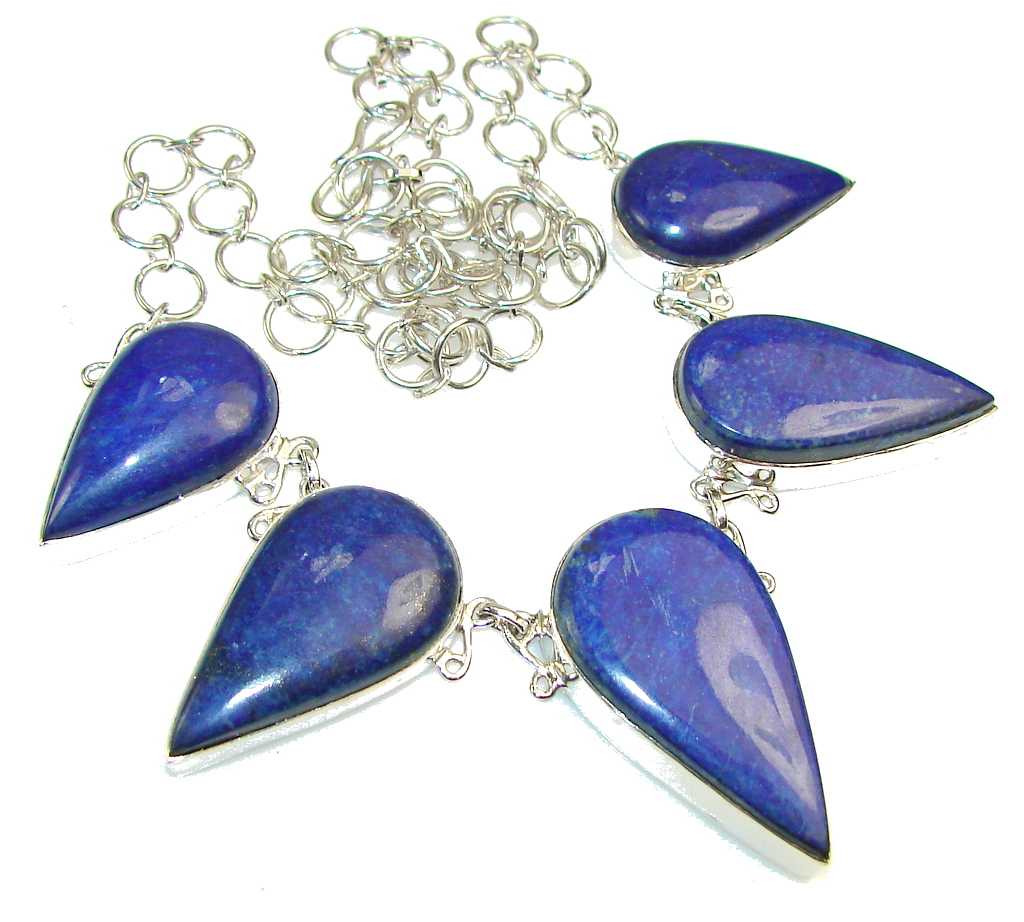 Stone of Venus!! Sodalite Sterling Silver necklace