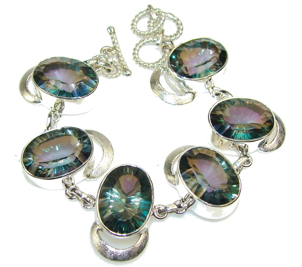 Island Fantasy!! Magic Topaz Sterling Silver Bracelet