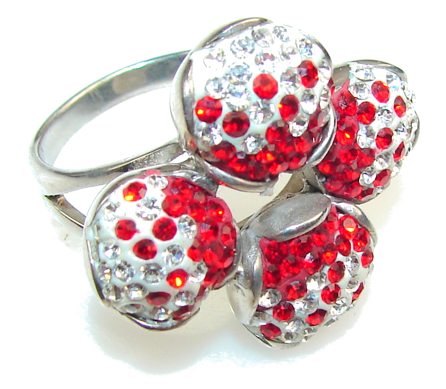 Promise Of Love!! Created Red Garnet Sterling