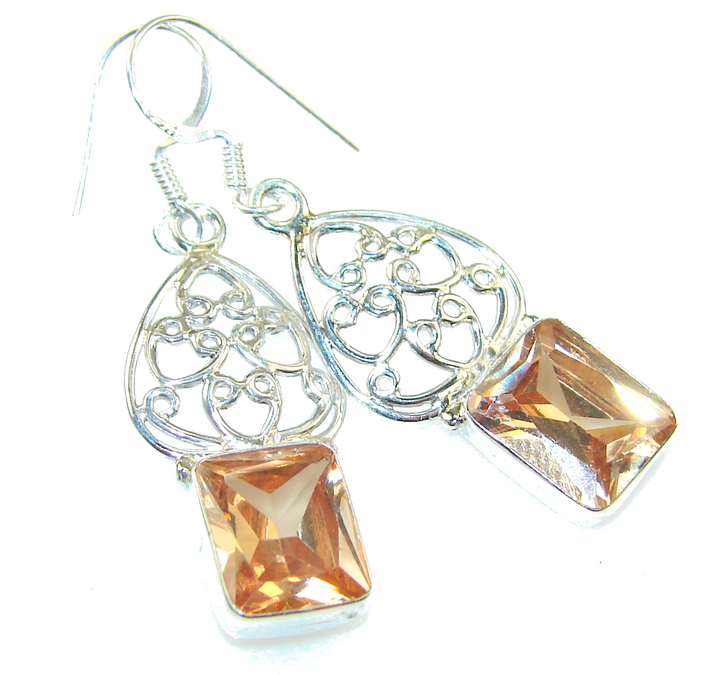 Amazing Golden Topaz Sterling Silver earrings