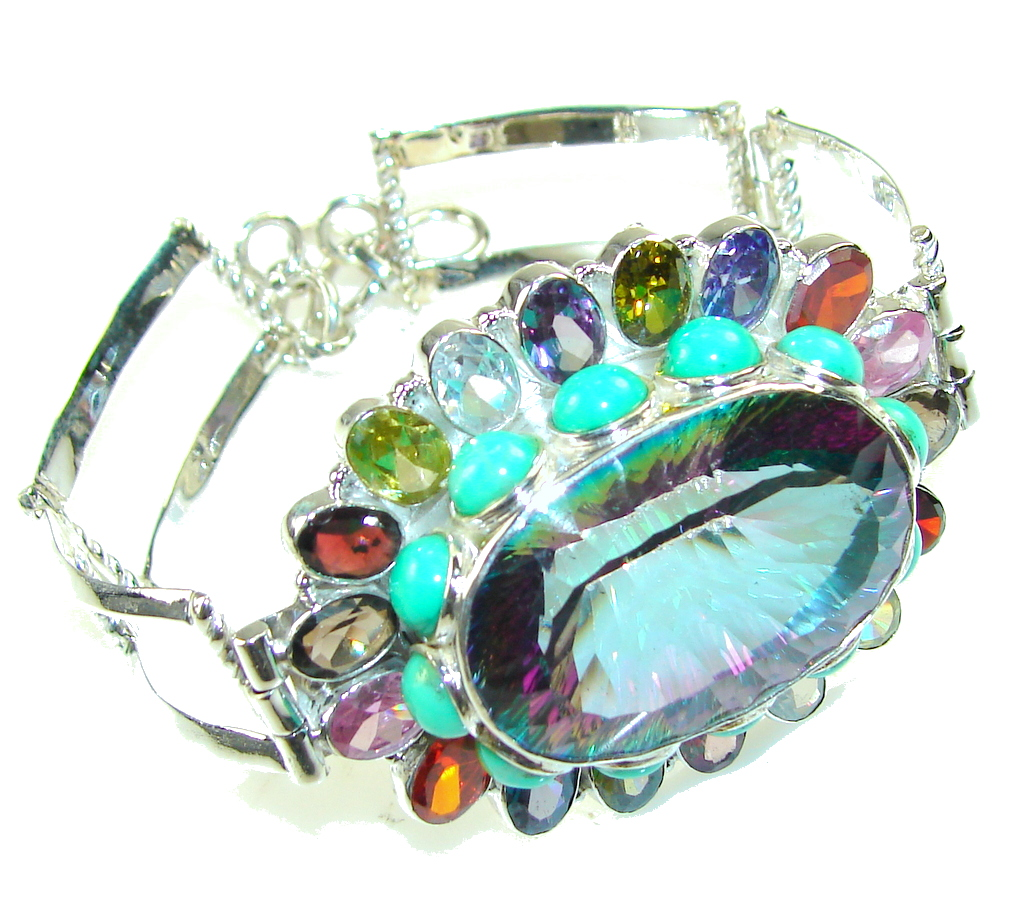 Secret Fantasy!! Magic Topaz Sterling Silver Bracelet