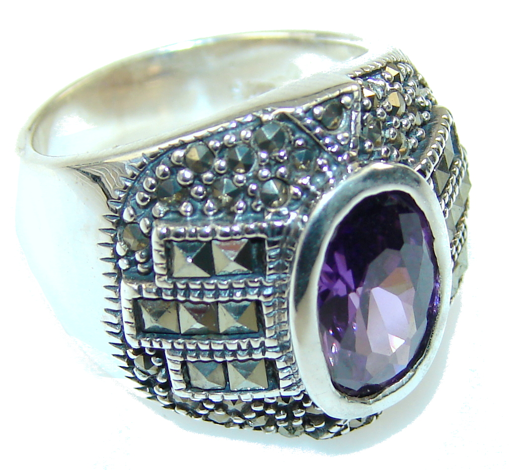 Amazing Alexandrite Quartz Sterling Silver Ring s. 6