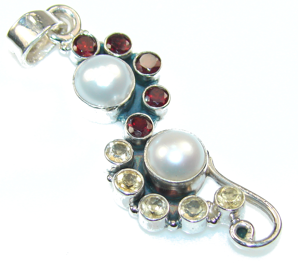 jewelpearl.com Delicate White Fresh Water Pearl Sterling Silver pendant