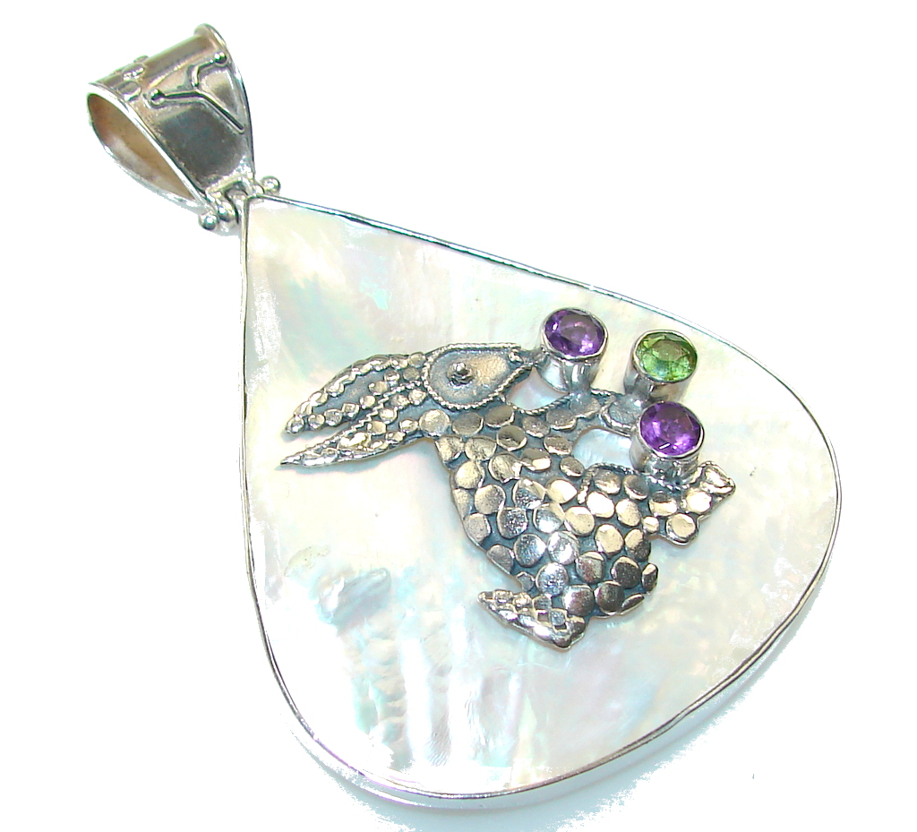 Big! Amazing Blister Pearl Sterling Silver pendant