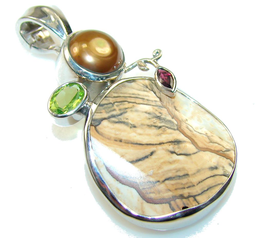 Awesome Design Picture Jasper Sterling Silver pendant