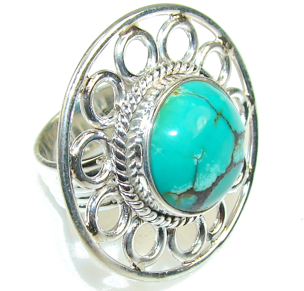 Amazing Color Of Turquoise Sterling Silver Ring s. 7