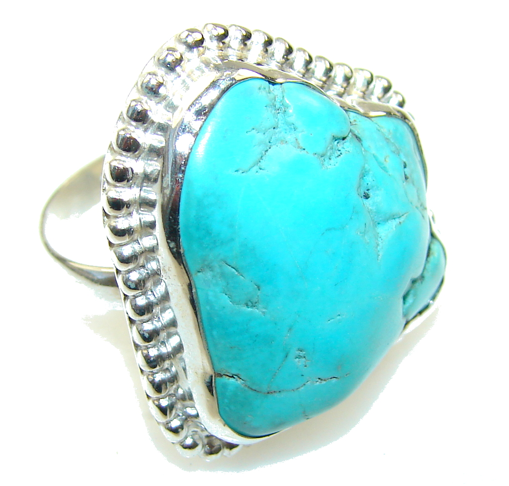 Regal Blue Blue Turquoise Sterling Silver Ring s 8 1-4