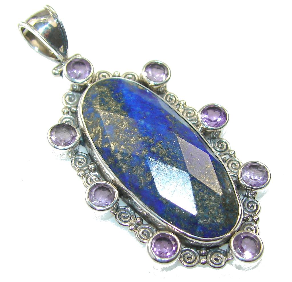 Fantastic Lapis Lazuli Sterling Silver Pendant
