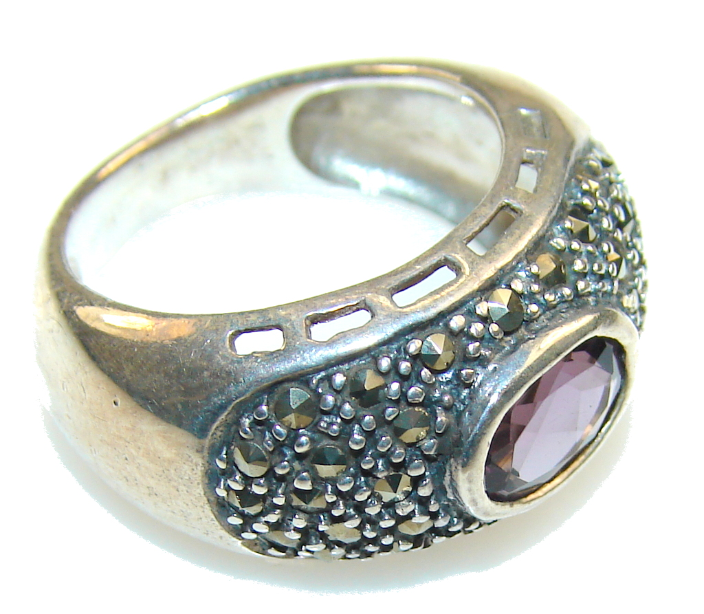 marcassite.com the marcasite jewelry place    Excellent Purple Amethyst Sterling Silver Ring s. 6