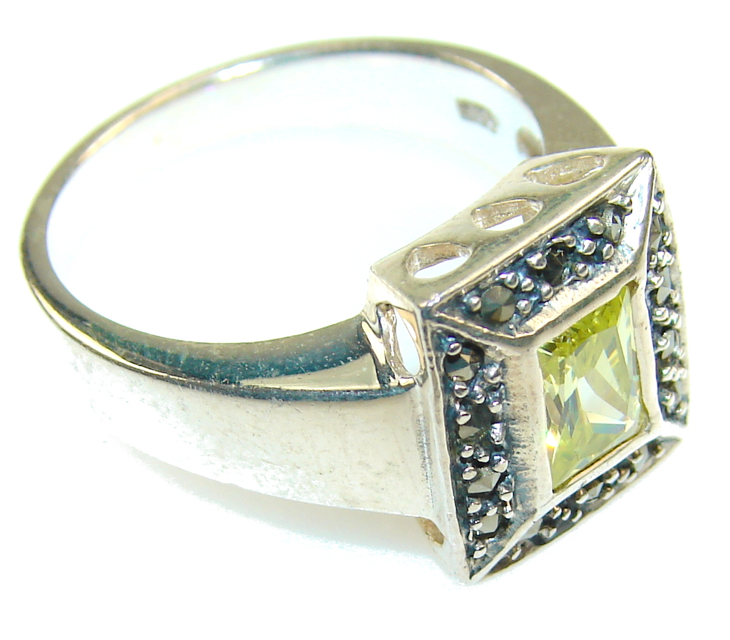 marcassite.com the marcasite jewelry place    Amazing Yellow Quartz Sterling Silver ring s. 9