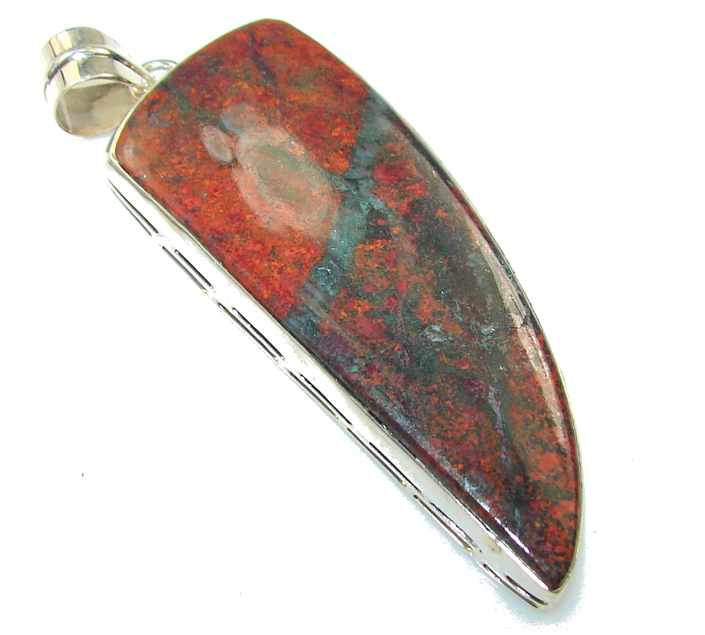 Opening Night!! Red Sonora Jasper Sterling Silver Pendant