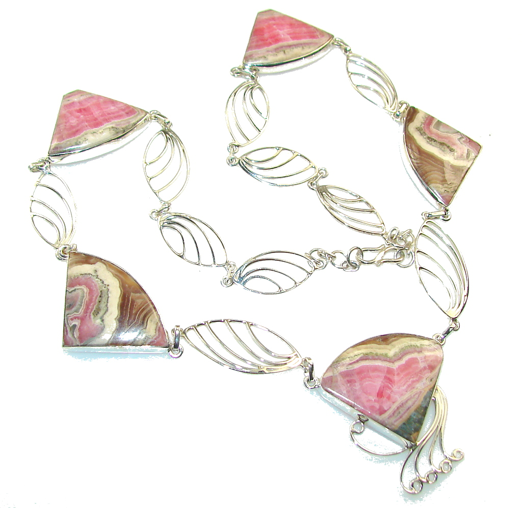Natural_Beauty!!_Rhodochrosite_Sterling_Silver_necklace