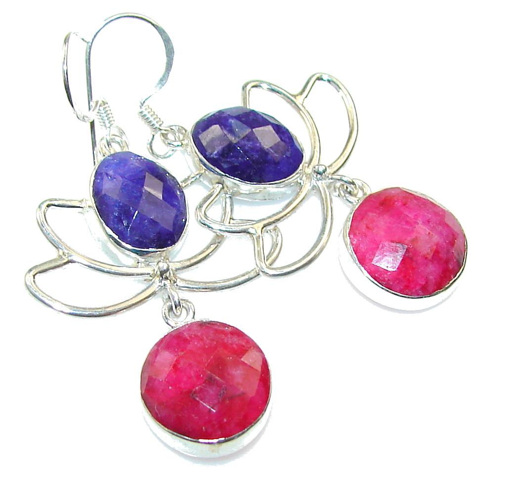 Special Secret!!! Pink Ruby Sterling Silver earrings