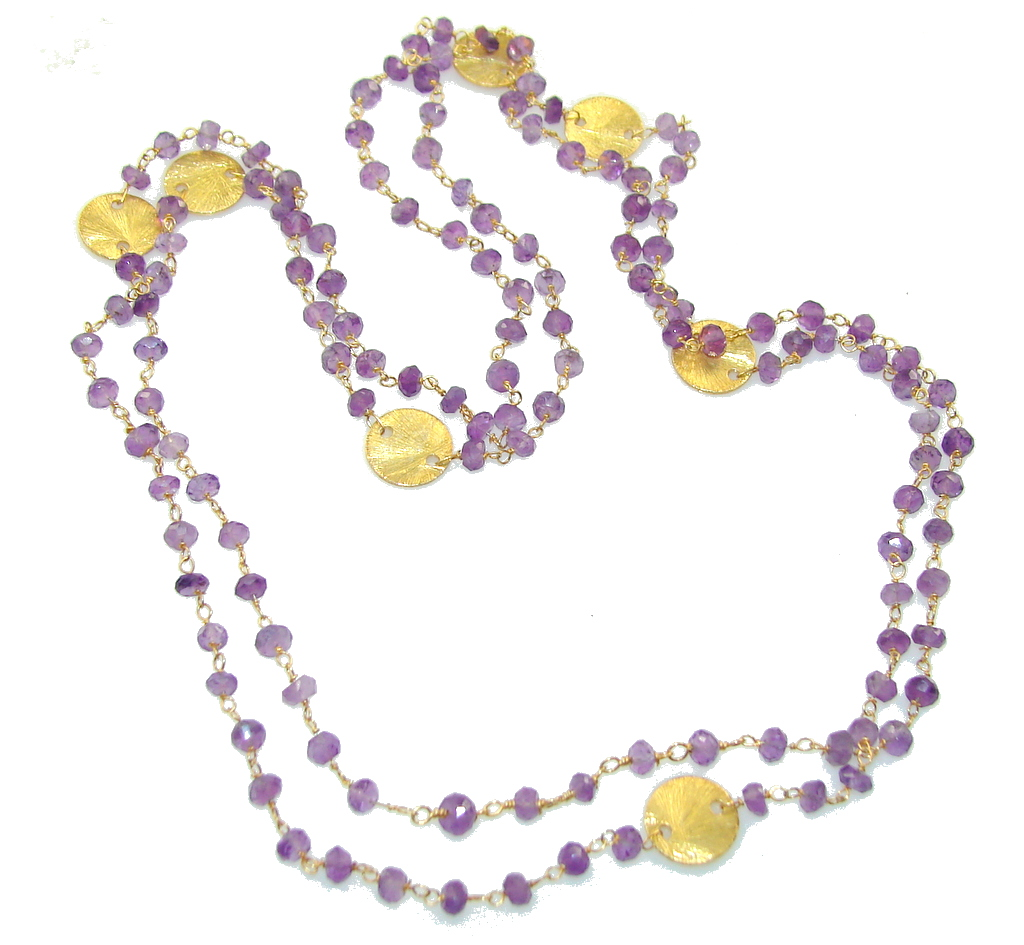 Fabulous Purple Amethyst necklace