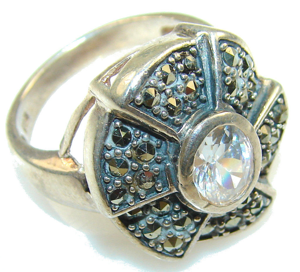 marcassite.com view the photo of  White Heat White Topaz Sterling Silver ring s. 8