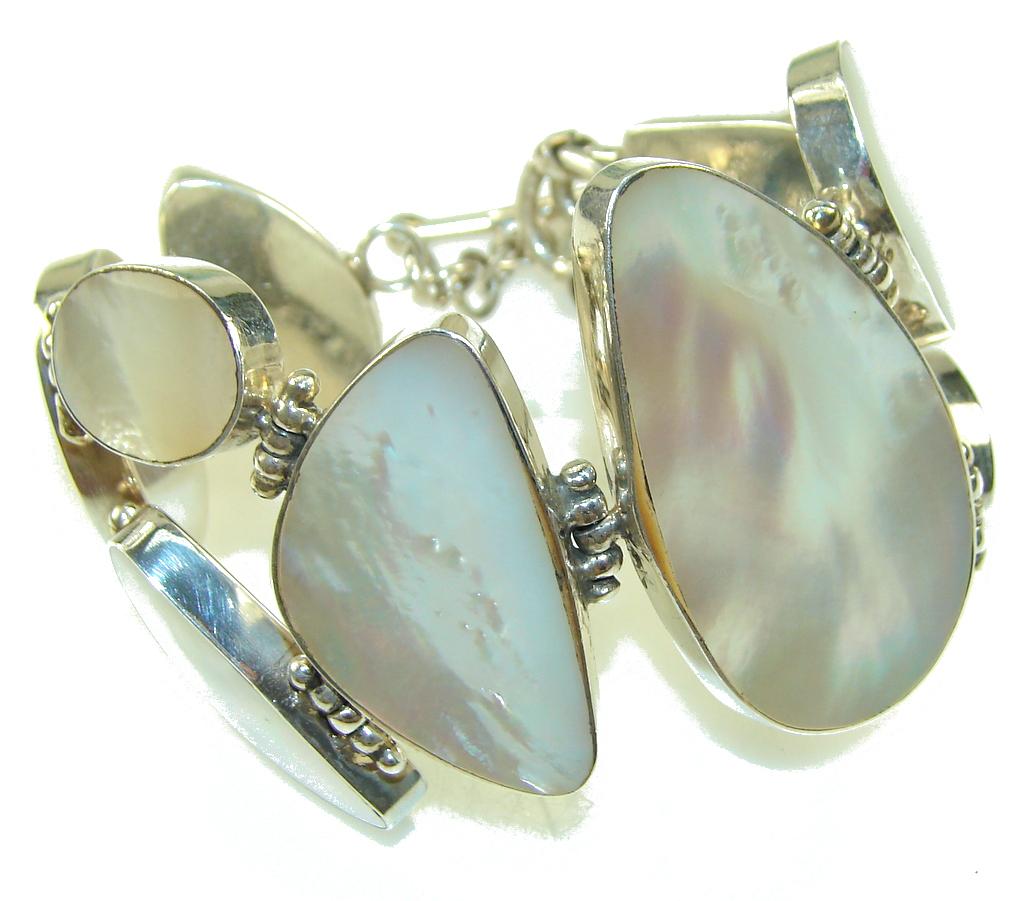 Breathtaking Silver Blister Pearl Sterling Silver Bracelet