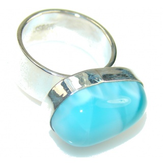 Love Christmas! Light Blue Larimar Sterling Silver Ring s. 6 1/4