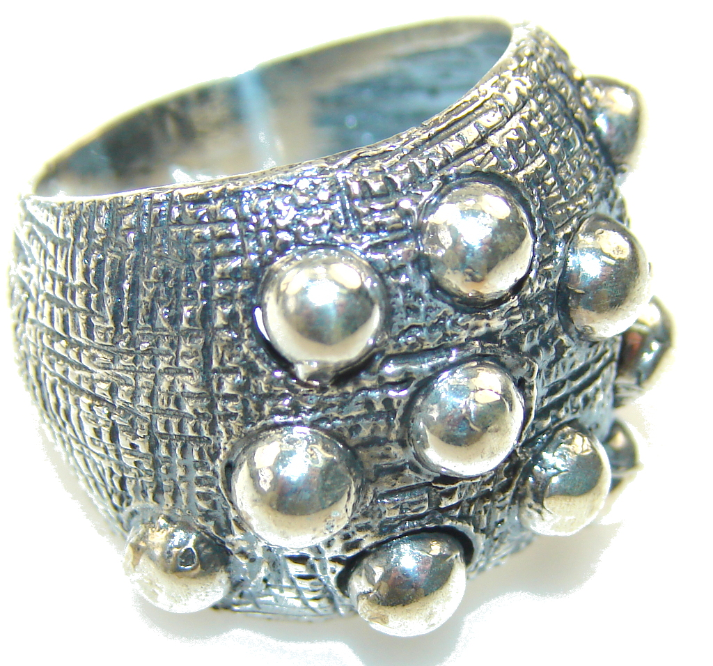 Great Turkish Sterling Silver Ring s. 7