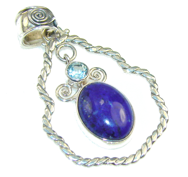 Awesome Royal Blue Lapis Lazuli Sterling Silver Pendant