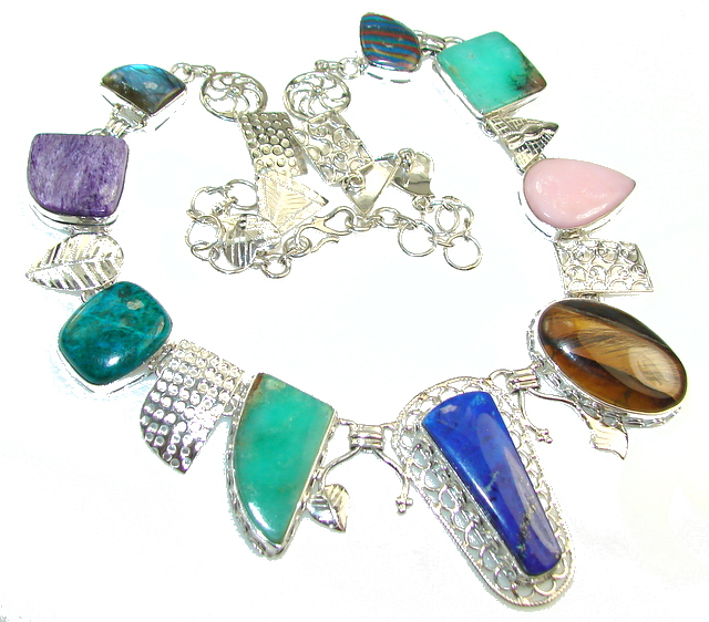 Image of Breathtaking Multistone Sterling Silver necklace