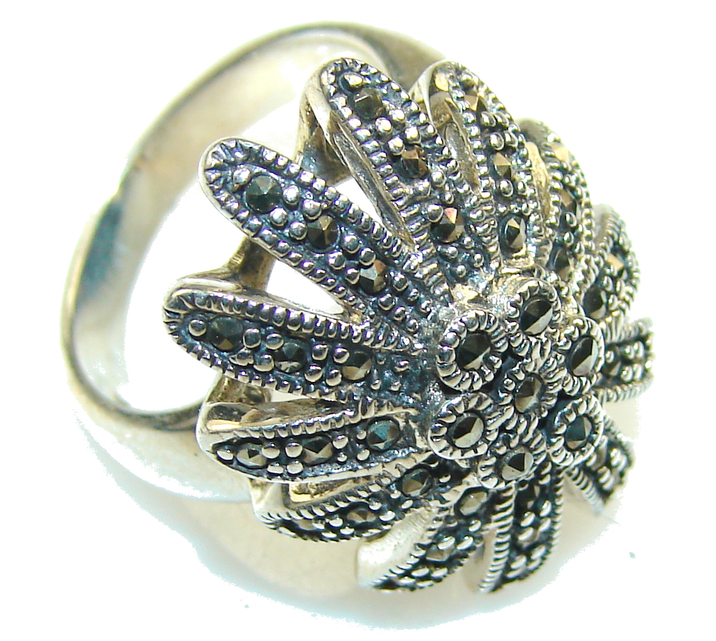 marcassite.com New! Great Marcasite Sterling Silver Ring s. 6