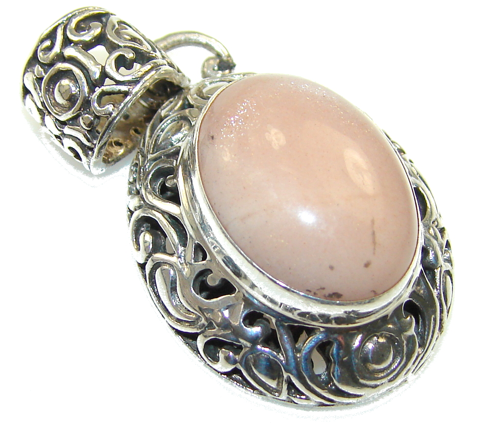 Amazing Color Of Golden Calcite Sterling Silver Pendant