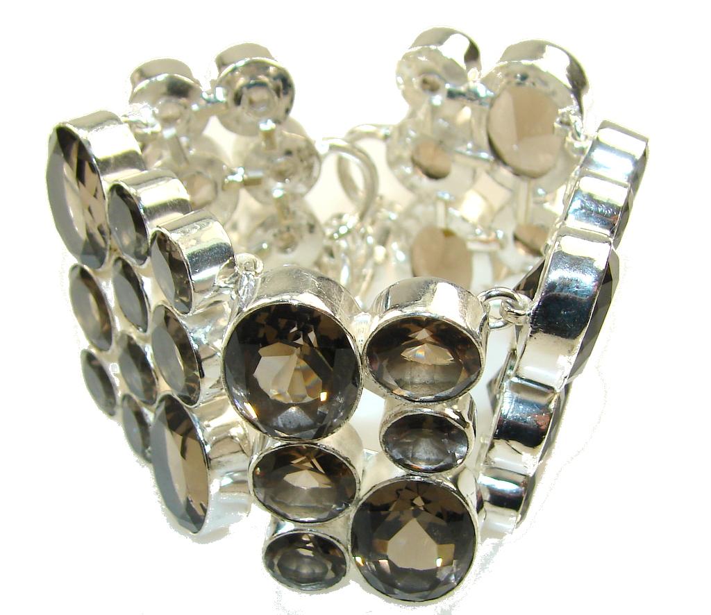 Beautiful Light Smoky Topaz Sterling Silver Bracelet