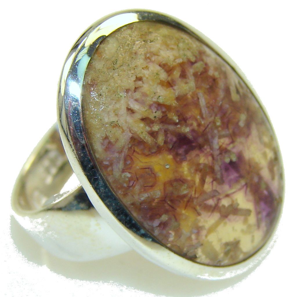 Amazing Ametrine Sterling Silver ring; s. 7 1/2