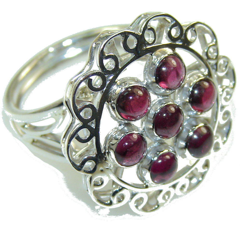 Sweet! Ruby Pink Tourmaline Sterling Silver Ring