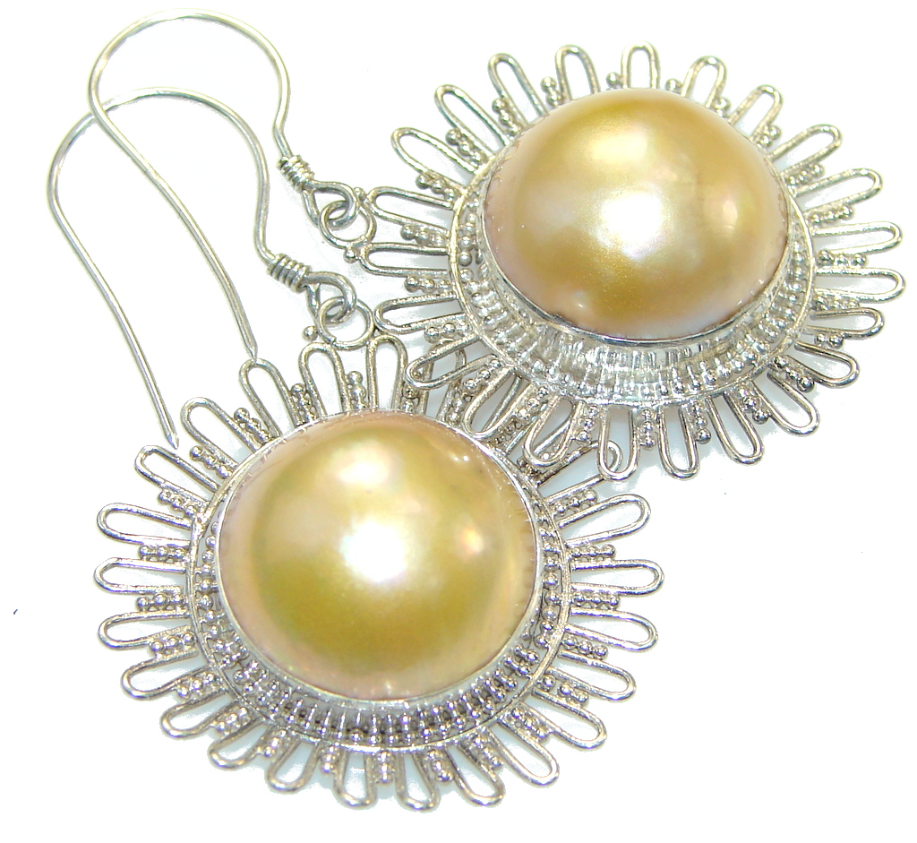 Amazing Creamy Pearl Sterling Silver Earrings