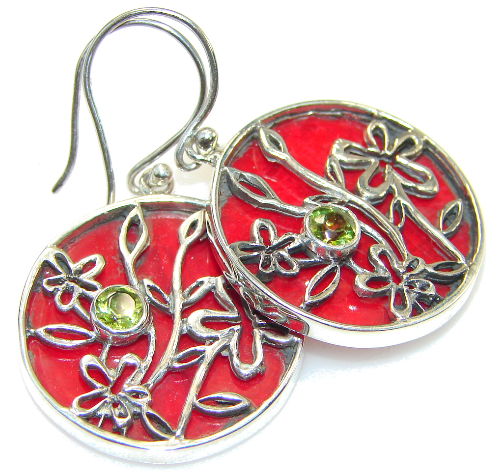 The One! Fossilized Coral Sterling Silver earrings