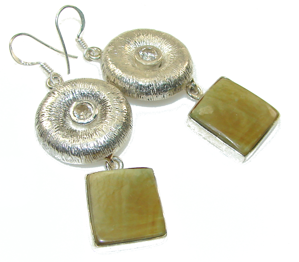 Amazing Style! Imperial Jasper Sterling Silver earrings
