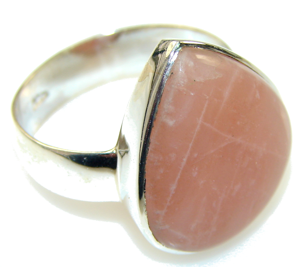 Secret Golden Calcite Sterling Silver Ring s. 12 1/2