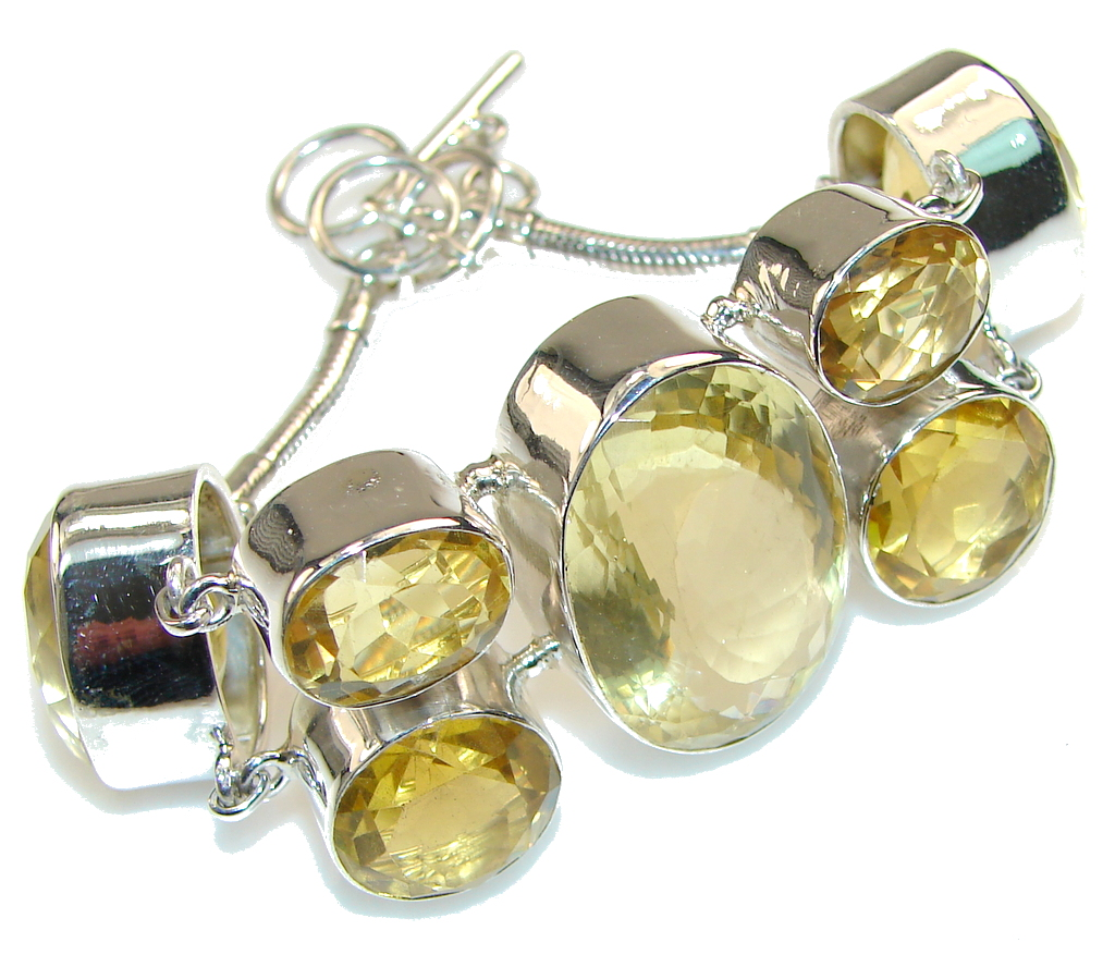 Image of Sunset Glow!! Natural Citrine Sterling Silver Bracelet