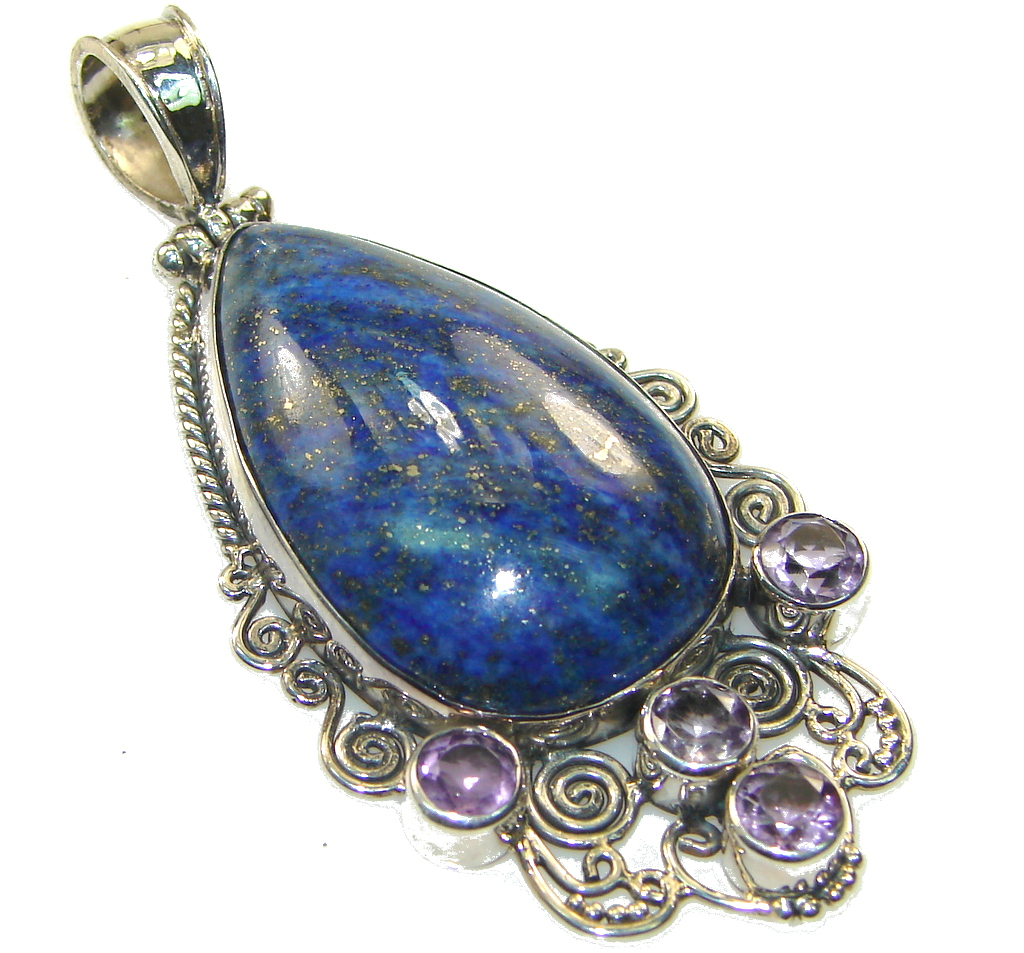 Secret Blue Lapis Lazuli Sterling Silver Pendant