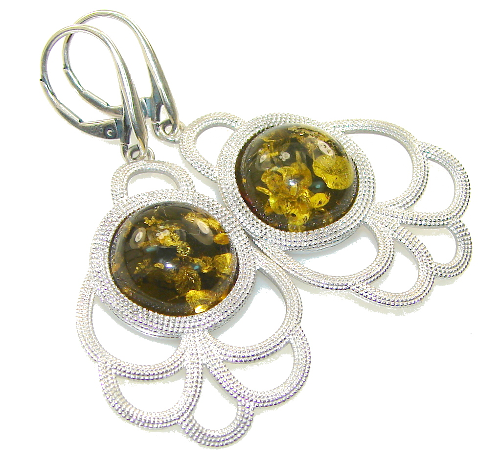 Trade Secret!! Polish Amber Sterling Silver earrings