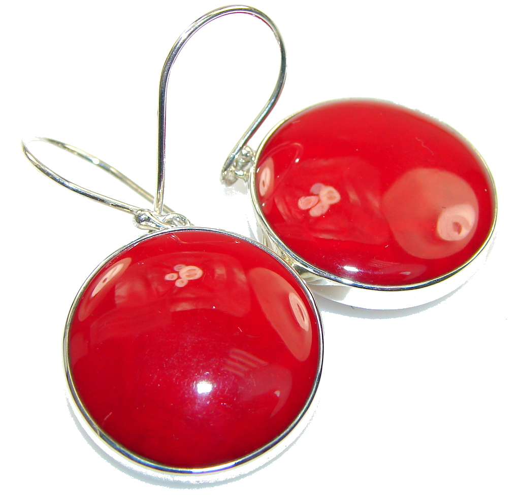 Power Love!! Fossilized Coral Sterling Silver earrings