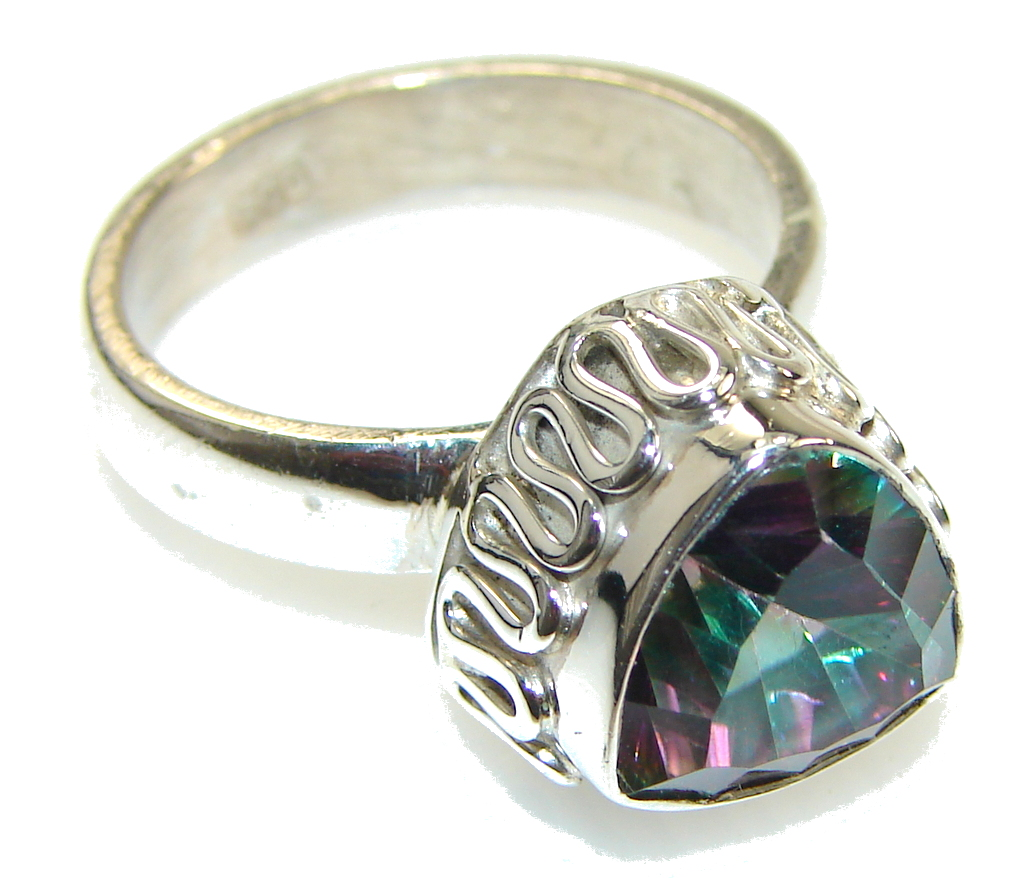 Image of Precious Magic Topaz Sterling Silver Ring s. 8