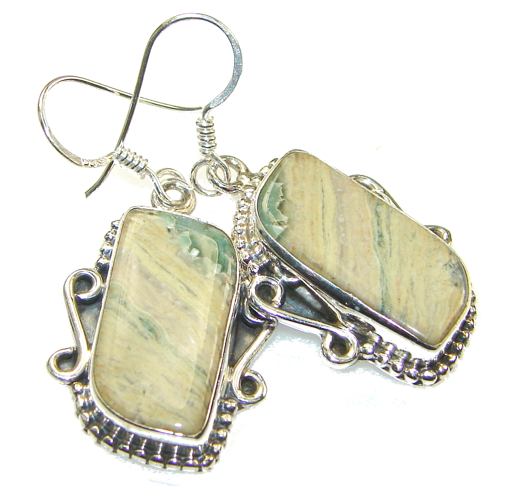 Amazing Ocean Jasper Sterling Silver earrings