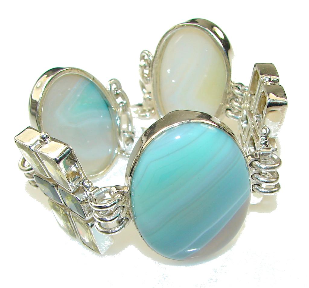 DayDreams!! Botswana Agate Sterling Silver Bracelet