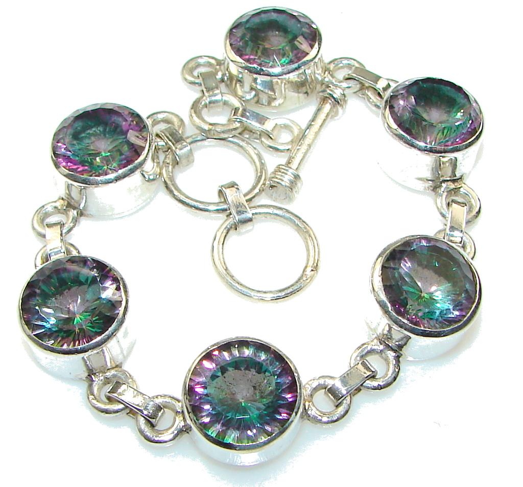 Aruba Style! Rainbow Magic Topaz Sterling Silver Bracelet