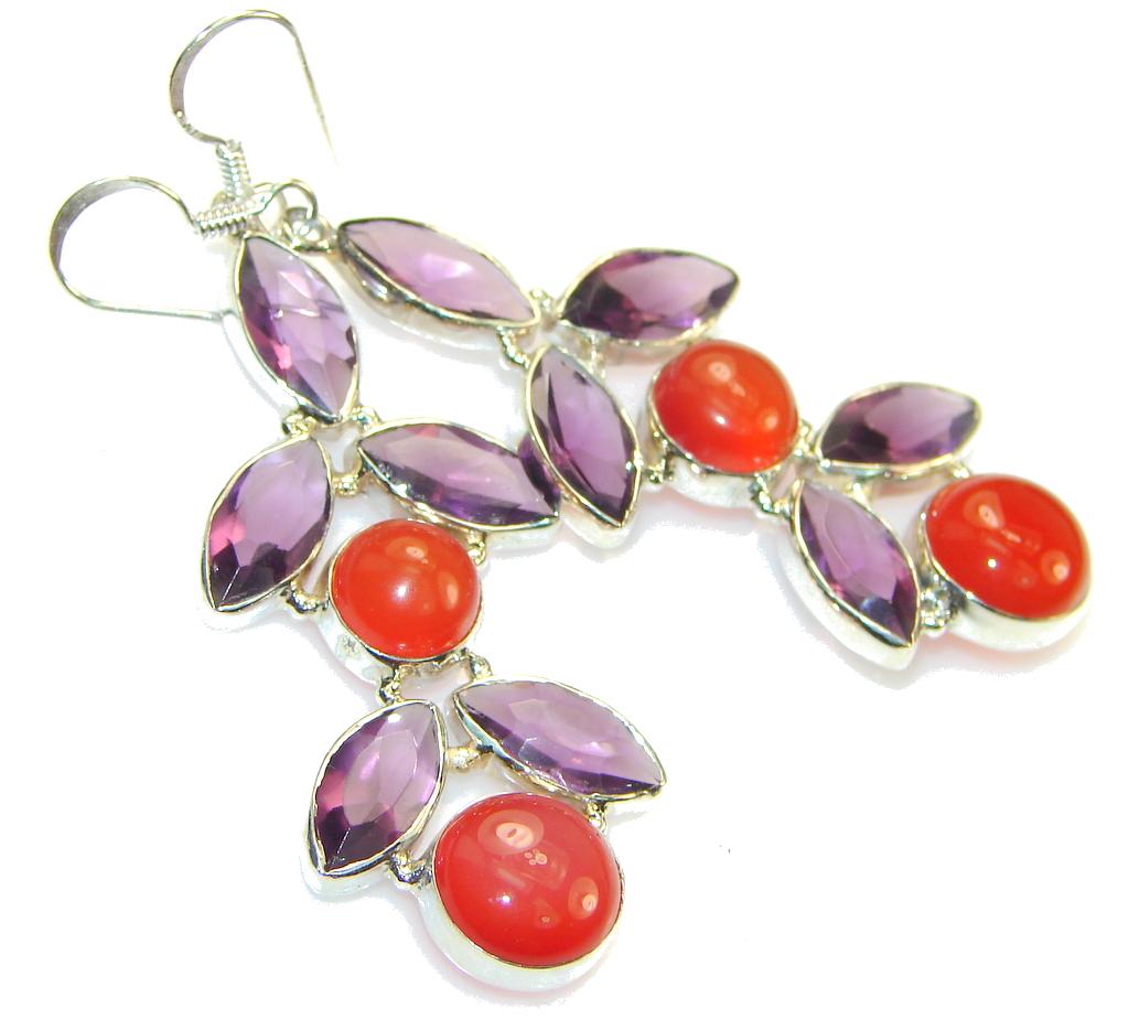 Image of Precious! Carnelian earrings Sterling Silver earrings