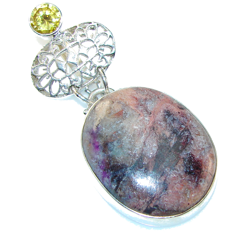 Aura Of Beauty!! Jasper Sterling Silver Pendant