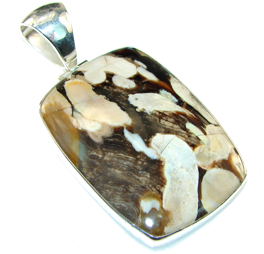 Awesome!! Nugget Jasper Sterling Silver Pendant