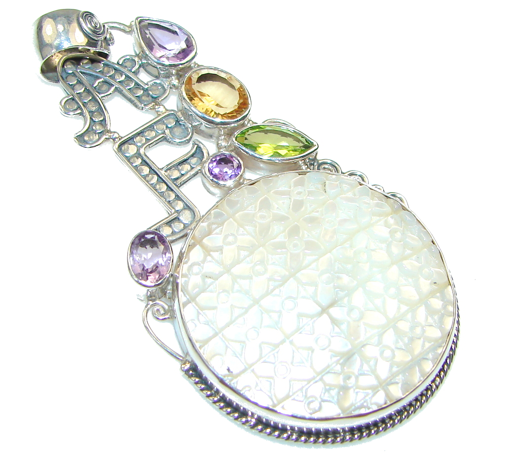 jewelpearl.com view the photo of  Fashion Style!! Blister Pearl Sterling Silver pendant