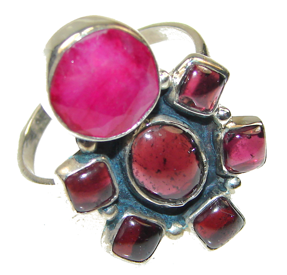 The One Pink Ruby Tourmaline Sterling Silver Ring